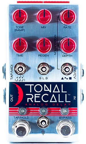 Chase Bliss Tonal Recall Red Knob