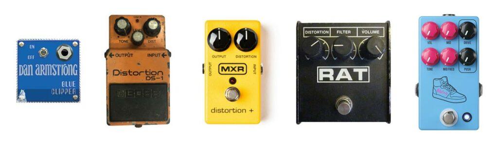 iconische distortion pedalen